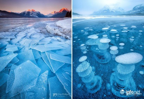 Quang cảnh kỳ vĩ của những hồ nước đóng băng trên thế giới - ảnh 6