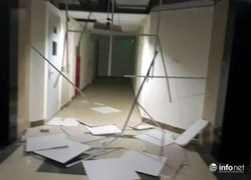 Hà Nội: Nhiều mảng trần chung cư bị văng tung toé trong giông lốc - ảnh 3