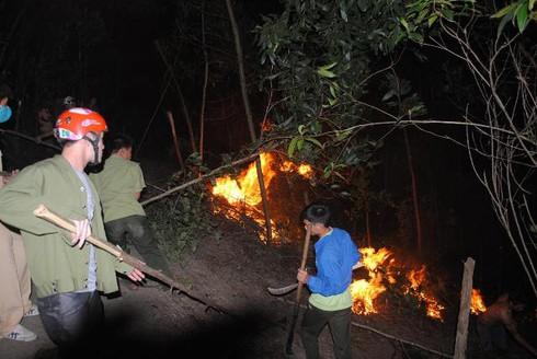 Hà Tĩnh: Hàng trăm cán bộ kiểm lâm chữa cháy rừng dữ dội lúc giữa đêm - ảnh 2