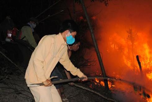 Hà Tĩnh: Hàng trăm cán bộ kiểm lâm chữa cháy rừng dữ dội lúc giữa đêm - ảnh 4