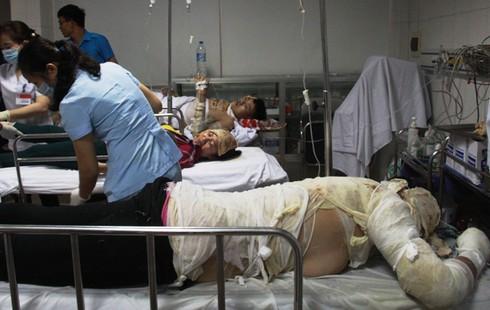 Nghệ An: Nổ kinh hoàng ở công ty gỗ, 12 công nhân nhập viện cấp cứu - ảnh 1