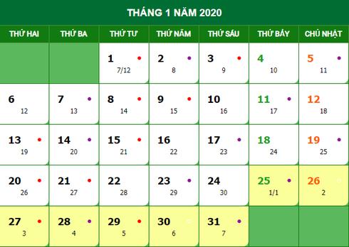 Tết Nguyên đán { two|2}020 vào ngày bao nhiêu Dương lịch?