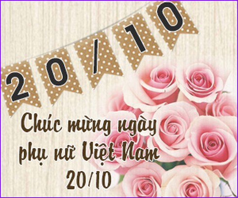 Lời chúc mừng 20/10 hay nhất dành cho mẹ, cô giáo, vợ, người yêu - ảnh 1
