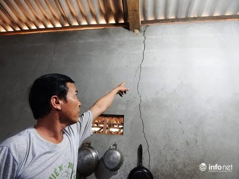 Thừa Thiên Huế: Phấp phỏng sống trong những ngôi nhà nứt toác vì mỏ đá nổ mìn - ảnh 9