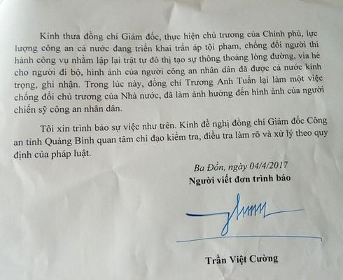 Quảng Bình: Thượng úy CSGT cản trở việc cưỡng chế công trình vi phạm - ảnh 3