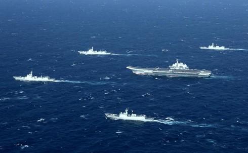 """Lo sợ Trump """"giở chứng"""", Trung Quốc đẩy mạnh hoạt động quân sự biển - ảnh 2"""
