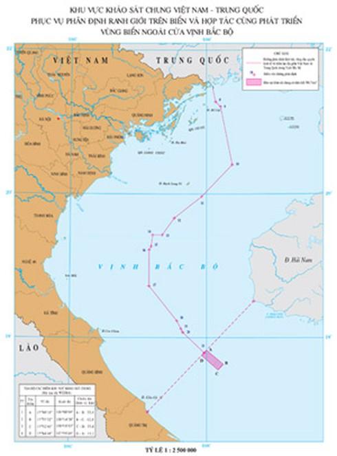 Việt-Trung khảo sát chung khu vực thoả thuận vùng biển ngoài cửa Vịnh Bắc Bộ - ảnh 1