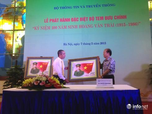 Phát hành đặc biệt bộ tem về Đại tướng Hoàng Văn Thái - ảnh 3