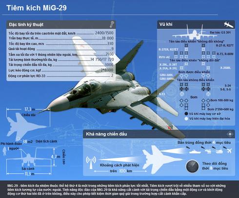 [Infographics] Tìm hiểu Tiêm kích MiG-29 - ảnh 2