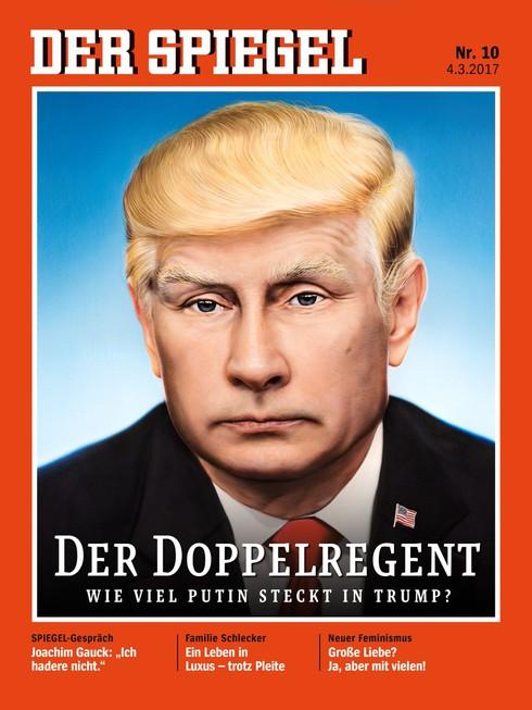 Putin xuất hiện trên trang bìa tạp chí Spiegel với kiểu tóc Trump - ảnh 1