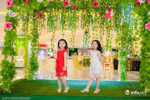 Mẫu nhí Linh Chi và Bảo Ngọc cực xinh trong thời trang ren hè siêu hot - ảnh 3