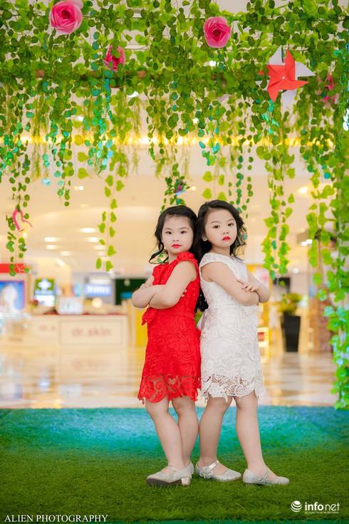 Mẫu nhí Linh Chi và Bảo Ngọc cực xinh trong thời trang ren hè siêu hot - ảnh 5
