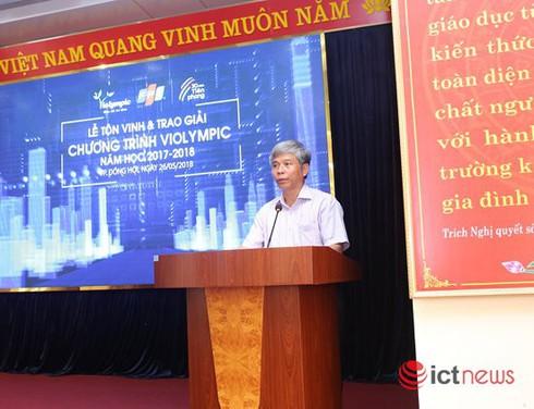 Trao giải cuộc thi ViOlympic năm học 2017-2018 cho gần 200 học sinh khu vực miền Trung