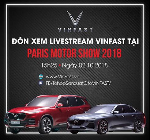 """Lộ danh tính """"ngôi sao quốc tế hạng A"""" có mặt trong buổi ra mắt xe VinFast tại Paris Motor Show / David Beckham sẽ là người đầu tiên trải nghiệm xe VinFast tại Paris Motor Show? / Link xem trực tiếp sự kiện ra mắt xe VinFast tại Paris Motor Show"""