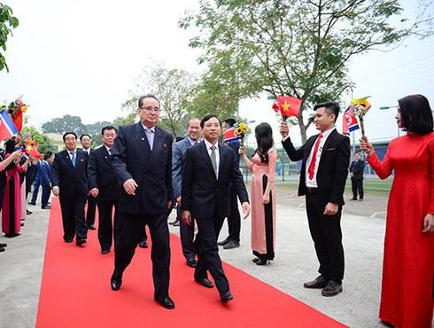 Phái đoàn Triều Tiên của Chủ tịch Kim Jong Un: