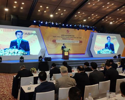 """Bộ trưởng Nguyễn Mạnh Hùng: """"Make in Vietnam"""" sẽ giúp Việt Nam thịnh vượng và có hòa bình lâu dài - ảnh 1"""