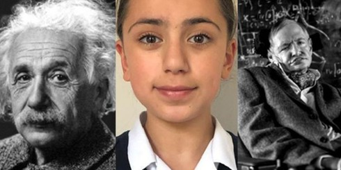 Be gai co bo oc thien tai, IQ vuot ca Albert Einstein