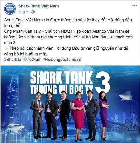 CEO Asanzo Phạm Văn Tam rời ghế Shark Tank, VTV cắt bỏ nội dung - ảnh 1