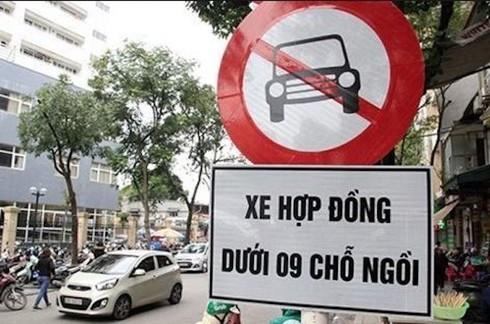 Đề xuất bỏ biến cấm taxi, xe hợp đồng dưới 9 chỗ trên nhiều tuyến phố Hà Nội - ảnh 1