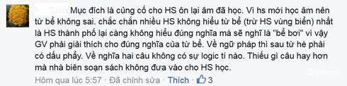 Giáo viên phản ứng với đoạn văn dạy trẻ lớp 1 trong sách Tiếng Việt - ảnh 7
