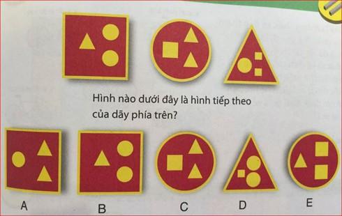 Bài toán hóc búa: Tìm hình phù hợp với quy luật - ảnh 1