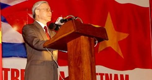Tổng Bí thư Nguyễn Phú Trọng thăm, nói chuyện với trường Đảng Cuba