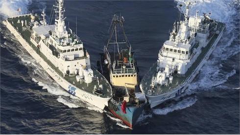 Clip tàu Nhật Bản truy đuổi tàu TQ xâm nhập đảo Senkaku
