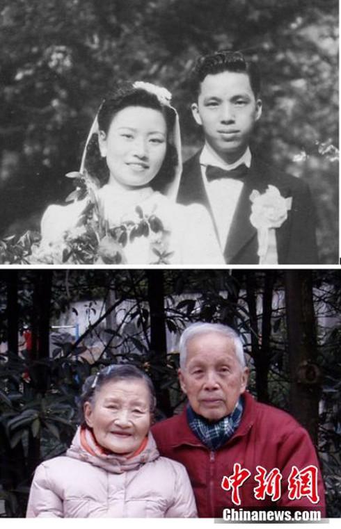 Cảm động đôi vợ chồng già chụp lại ảnh cưới sau 70 năm ở cùng địa điểm - ảnh 7
