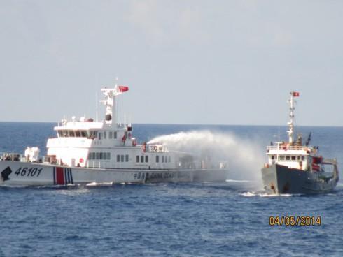 Tin nóng Hoàng Sa chiều 1/6: Tàu CSB 2016 bị Trung Quốc đâm thủng - ảnh 1