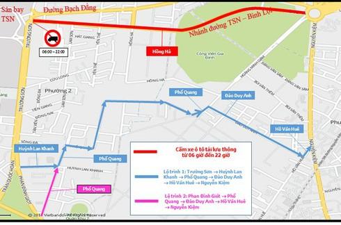 Ngày mai cấm xe tải trên hai tuyến đường vào sân bay Tân Sơn Nhất - ảnh 1