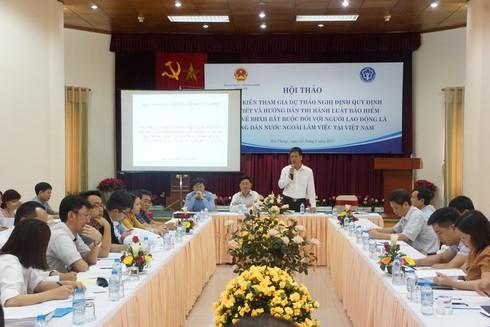 Người lao động nước ngoài sẽ bắt buộc phải tham gia BHXH - ảnh 1