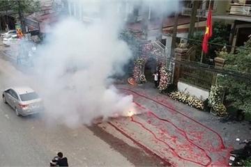 Lộ diện một số người đốt pháo số lượng lớn trong đám cưới ở Hà Nội