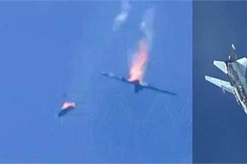 """Máy bay chiến đấu của Syria và Thổ """"rụng như sung"""" trên bầu trời Idlib"""