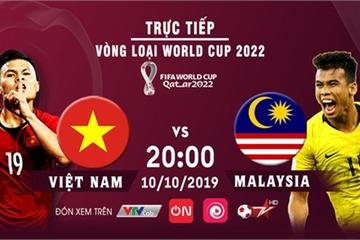 Xem bóng đá trực tiếp trận Việt Nam vs Malaysia trên kênh VTV5 lúc 20h hôm nay 10/10