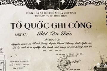 Chuyện lạ ở Nghệ An: Hy sinh 88 năm nhưng vẫn chưa được công nhận... liệt sỹ