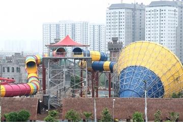 Sắp khai trương công viên nước lớn nhất Hà Nội