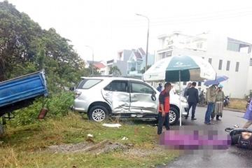 Quảng Nam: Tai nạn liên hoàn, 3 cha con đi xe máy thương vong