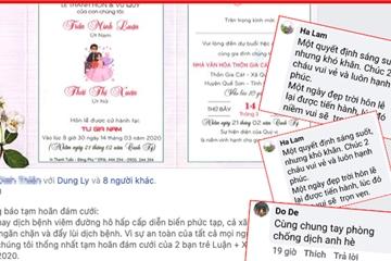 Dù thiệp mời đã phát, cặp đôi Quảng Nam quyết định hoãn cưới phòng dịch bệnh