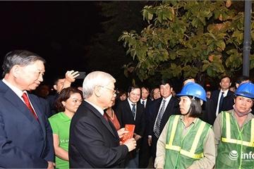 Tổng Bí thư, Chủ tịch nước Nguyễn Phú Trọng chúc Tết nhân dân đêm giao thừa