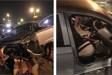 """Hà Nội: Một ngày có tới 3 vụ xe """"điên"""" gây tai nạn"""