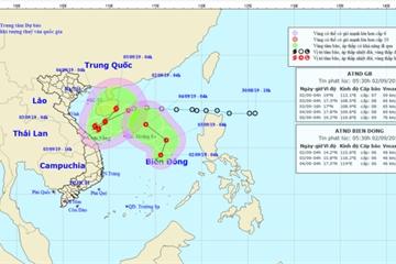 Tin áp thấp nhiệt đới mới nhất hôm nay 2/9: Áp thấp chồng áp thấp, mưa lớn nhiều nơi