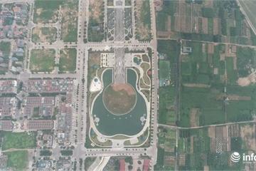 Cận cảnh công viên trăm tỷ có hình cây đàn ở Hà Nội