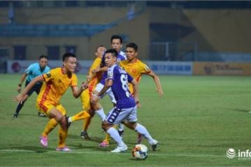 Hạ Thanh Hóa 5 bàn không gỡ, Hà Nội FC bỏ xa TP.HCM 5 điểm trong cuộc đua vô địch