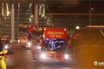 U22 Việt Nam về đến sân bay Nội Bài