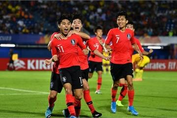 VCK U23 Châu Á 2020: U23 Hàn Quốc thắng nhọc U23 Trung Quốc ở... phút bù giờ