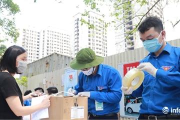 Hết cảnh xếp hàng gửi đồ tiếp tế cho người thân trong khu cách ly Pháp Vân - Tứ Hiệp