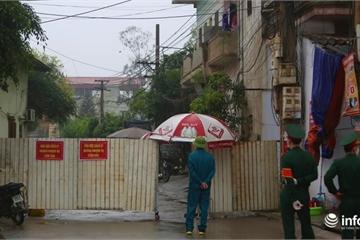 Ảnh: Kiểm soát nghiêm ngặt cách ly tại thôn có bệnh nhân Covid-19 số 219