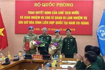 """Việt Nam có thêm """"cánh chim hòa bình"""" tại Nam Sudan"""