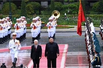 Tổng Bí thư, Chủ tịch nước Nguyễn Phú Trọng hội đàm với Chủ tịch Kim Jong-un
