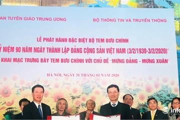 Phát hành đặc biệt bộ tem kỷ niệm 90 năm thành lập Đảng Cộng sản Việt Nam